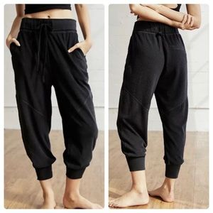 NWT free people black joggers